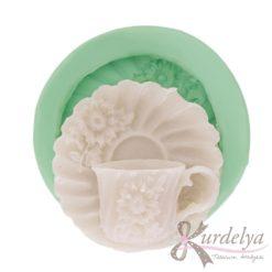 Çiçekli Tabak ve Bardağı silikon kalıp - KK-1470