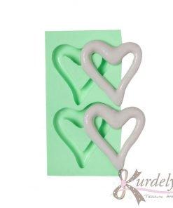 İçi Boş Kalp İkili silikon kalıp - KK-1326