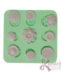 9 Çeşit Düğme silikon kalıp - KK-1866