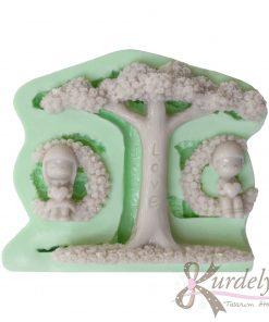 Ağaçta Sallanan Çift silikon kalıp - KK-2011