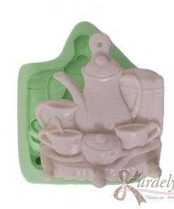 Bardaklı Çaydanlıklı Mutfak Askısı silikon kalıp - KK-1576
