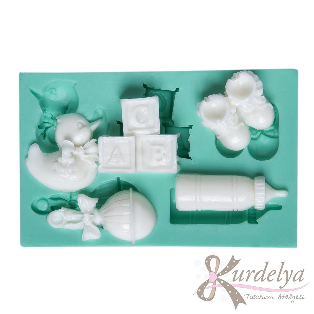 Bebek Eşyaları Beşli silikon kalıp - KK-795