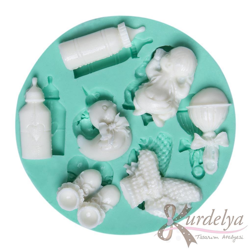 Bebek Eşyaları Yedili silikon kalıp - KK-790