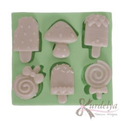 Dondurma Çeşitleri Temalı silikon kalıp - KK-1548