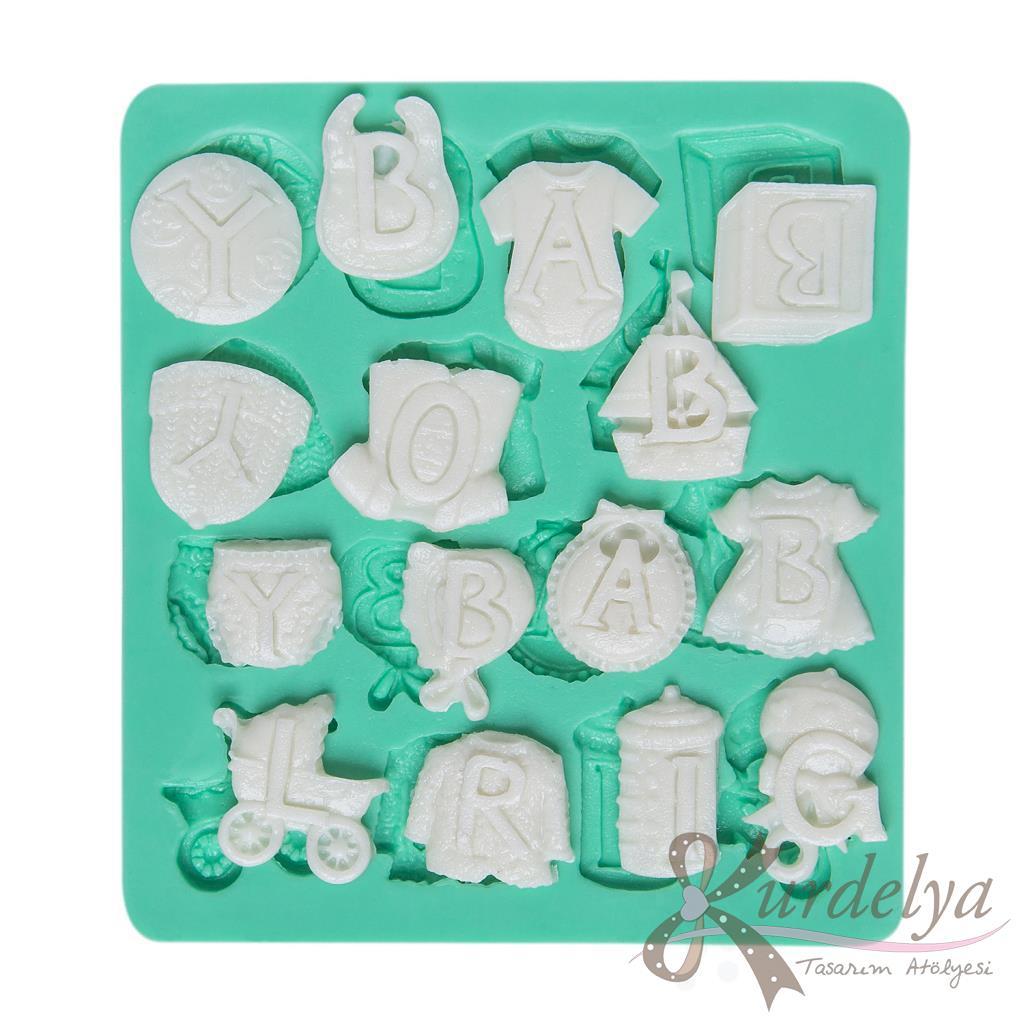 Harfli Bebek Eşyaları silikon kalıp - KK-791