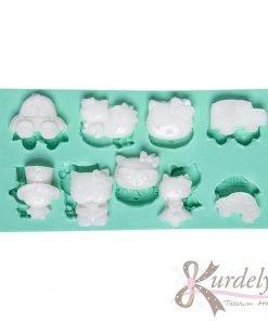 Hello Kitty Temalı silikon kalıp - KK-1082