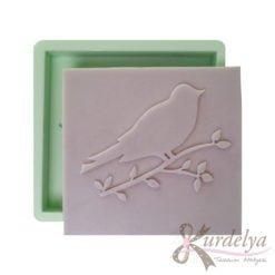 Kabartmalı Kuş Çerçevesi silikon kalıp - KK-2014