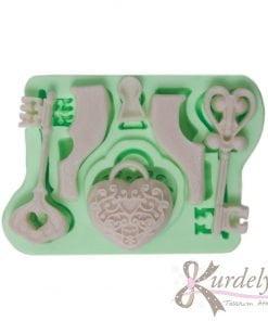 Kalbimin Anahtarı silikon kalıp - KK-1854