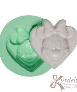 Kalp Üstünde Minnie Mouse silikon kalıp - KK-1347
