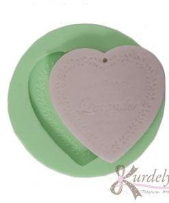 Kalp Lavender Delikli silikon kalıp - KK-1551