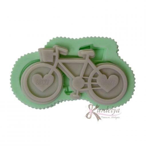 Kalp Tekerlekli Bisiklet silikon kalıp - KK-2006