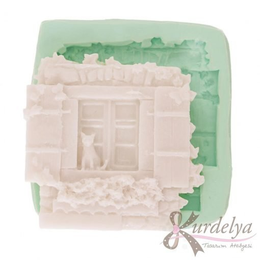 Kedili Ev Duvarı silikon kalıp - KK-1475