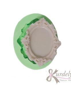 Minik Oval Çerçeve silikon kalıp - KK-1746