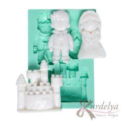 Prenses Prens ve Şato silikon kalıp - KK-1025
