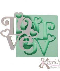 Romantik Love Yazısı silikon kalıp - KK-1356