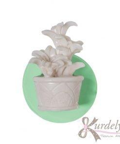 Saksıda Melisa Çiçeği silikon kalıp - KK-1370