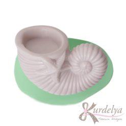 Spiral Deniz Kabuğu Tealight Mumluk silikon kalıp - KK-1811