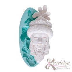 Tüylü Şapkalı Kadın Maske silikon kalıp - KK-1114