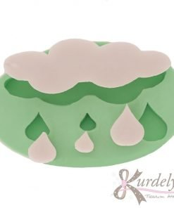 Yağmur Damlalı Bulut silikon kalıp - KK-1497