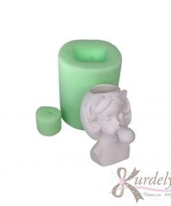 Sakızlı Küçük Boy Kız Saksı silikon ve kokulu taş kalıbı