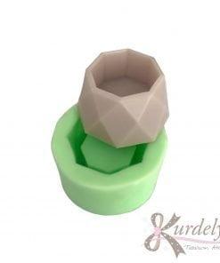 Geometrik Küçük Saksı silikon ve kokulu taş kalıbı