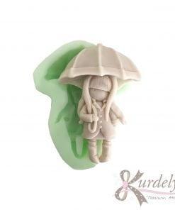 Şemsiyeli Kız silikon ve kokulu taş kalıbı
