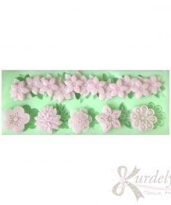 Minik Çiçekler ve Çiçek Bordür silikon ve kokulu taş kalıbı