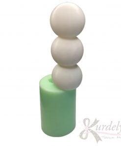 Üç Top Bubble Uzun Mum silikon ve kokulu taş kalıbı