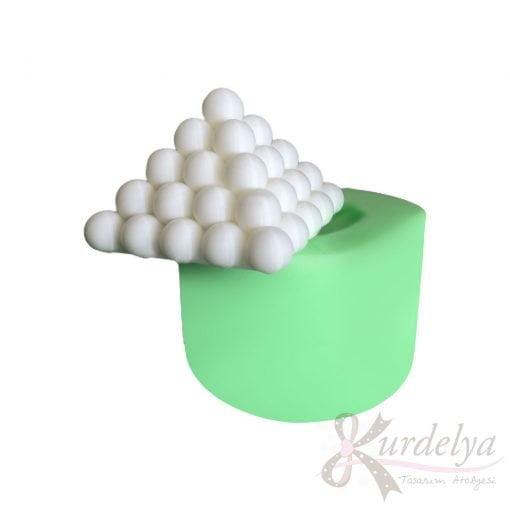 Büyük Piramit Bubble silikon ve kokulu taş kalıbı
