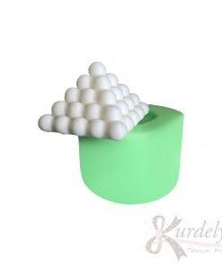 Küçük Piramit Bubble silikon ve kokulu taş kalıbı