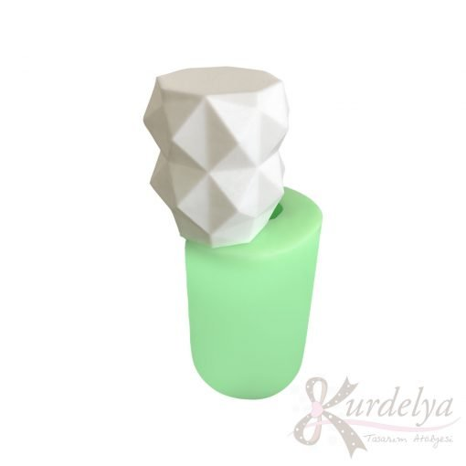 Model-2 Geometrik Desenli Mum silikon ve kokulu taş kalıbı