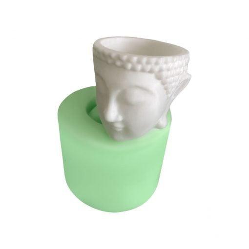 Buddha Kafası Heykeli Saksı silikon mum
