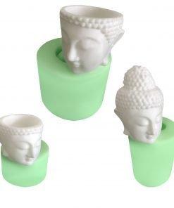 Buddha Kafası Heykeli Set silikon mum