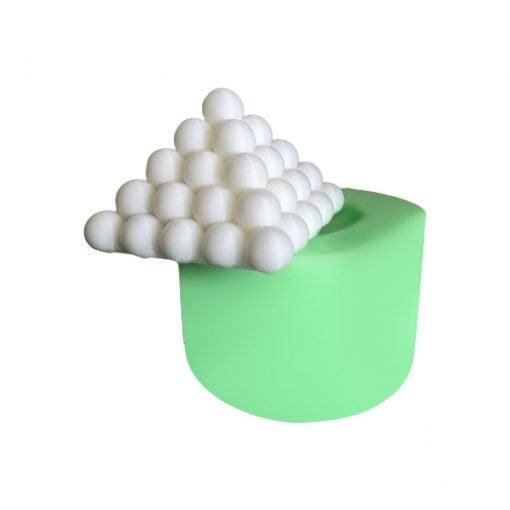 Büyük Piramit Bubble silikon mum