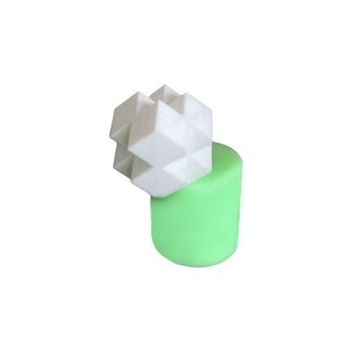 Geometrik Küpler silikon mum