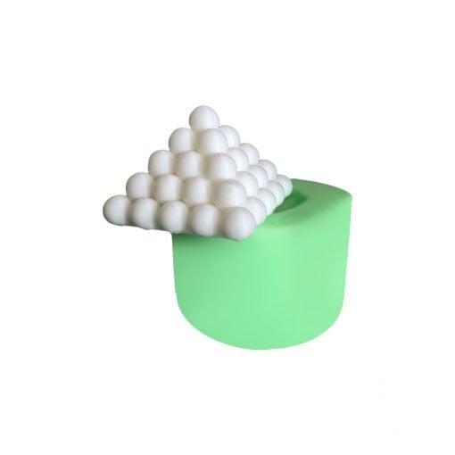 Küçük Piramit Bubble silikon mum