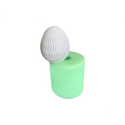 Model-9 Yumurta silikon mum