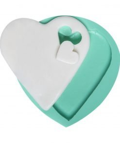 Heart-perforated Heart candle, concrete, resin silicone mold