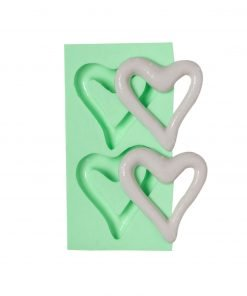 Hollow Heart (2 pcs) candle silicone mold, Hollow Heart (2 pcs) concrete silicone mold, Hollow Heart (2 pcs) resin silicone mold, Hollow Heart (2 pcs) soap silicone mold, Hollow Heart (2 pcs) epoxy silicone mold, Hollow Heart (2 pcs) clay silicone mold